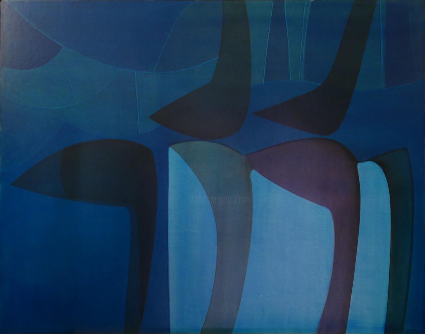 Guy Dessauges - 67-17-97-les ombres signé 1976