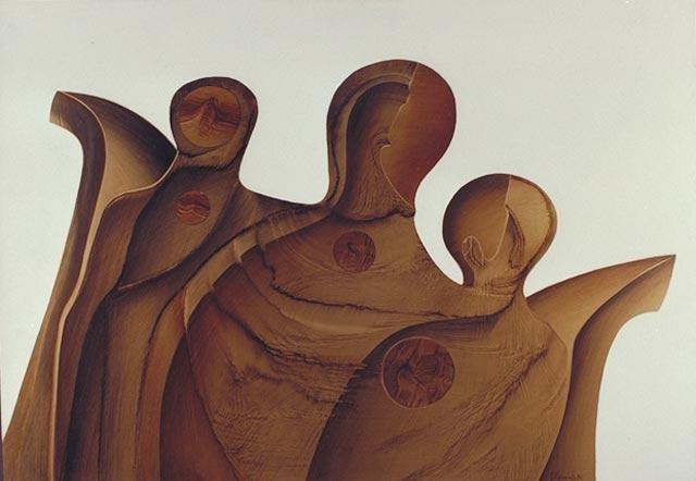 Guy Dessauges - trois figures