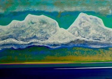 lac et montagnes neigeuses